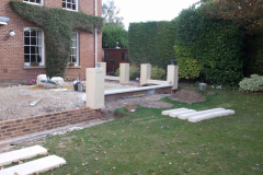 New stone work going in