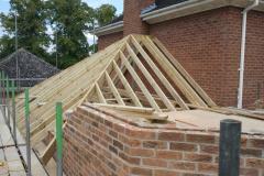 Roof taking shape